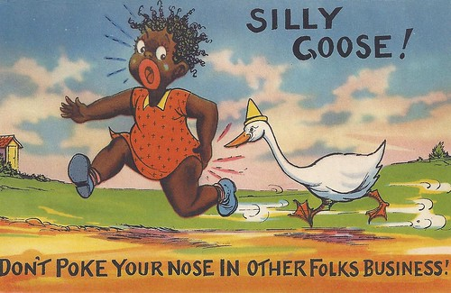 Funny, Comical, Comic, Stereotype, Black Americana, Silly Goose, Don
