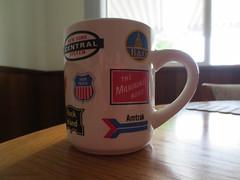 My coffee mug (jamica1) Tags: road new york railroad coffee rock island pacific union central amtrak milwaukee mug historical bo logos