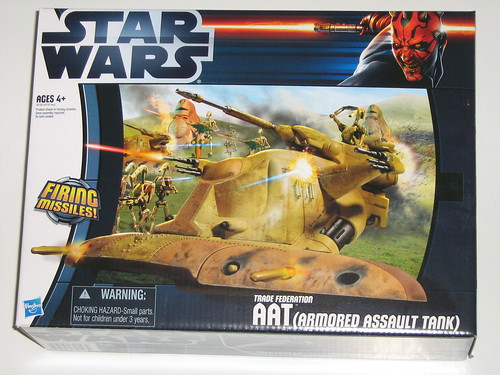 aat armored assault tank star wars vehicles darth maul packaging 2012 hasbro misb a