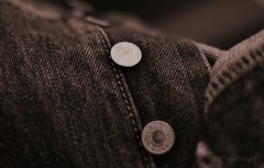 Denim (Steve.T.) Tags: macro texture clothing nikon buttons jeans fabric trousers denim material levis levistrauss buttonfly levijeans levi501s d3100 ommot ommotimagery