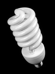 Energy Saving Bulb (wwarby) Tags: blackandwhite white slr glass lightbulb closeup blackbackground bulb spiral energy object curves olympus philips plastic indoors digitalcamera e3 zuiko digitalslr flourescenttube zuikodigital 1260mm olympuse3 engergysavingbulb