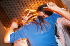 London Cocktail Club (Gary Kinsman) Tags: woman motion night movement hands women hug peace nightout candid unposed cuban embrace slowsync shaftesburyavenue stgiles highiso fridaynight lcc wc2 gesticulate slowsyncflash twofingers cocktailbar 2013 iso2500 londoncocktailclub fujix100 fujifilmfinepixx100