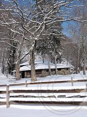 Alpine Picnic Area on the Hudson River, Palisades Interstate Park, New Jersey (jag9889) Tags: park winter house snow landscape newjersey picnic nj alpine pip tables area hudsonriver kearney 2014 palisadesinterstatepark bergencounty jag9889