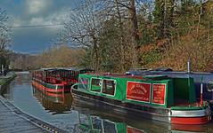 Narrowboats (Lee1885) Tags: water wales reflections boat canal shropshire thomas union horsedrawn a5 narrowboat llangollen waterways