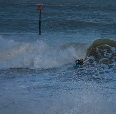 Surfers in Teignmouth (Chris Martin Photography) Tags: sea wet water sport canon surf wave devon mad bodyboard teignmouth
