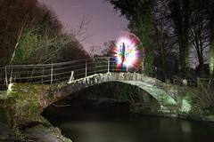 Orbridge 7/52 (FadeToBlackLP) Tags: longexposure bridge lightpainting canon exposure roman orb moonlight tamron rgb ledlenser triggertrap romanlakesleisurepark diyv24