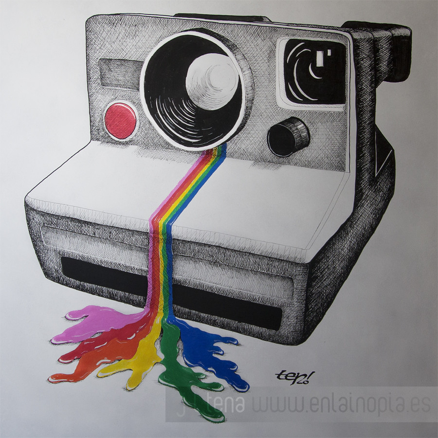 how to draw a polaroid