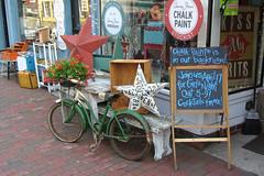 antique shop (cheelito) Tags: city colors bike bicycle shop star chalk md antique maryland ellicot