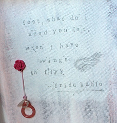 Frida Kahlo Quote on right wall (sanxistreet (Love Note Studios)) Tags: cute art love doll handmade quote frida note blythe custom kahlo customs lovenote blythedoll