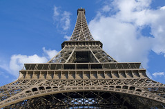 Eiffel Tower (Shay Culligan) Tags: paris france heritage metal french iron europe republic expo metro steel culture bluesky landmark structure exposition tall trocadero fr height 1889 republique riverseine capitalcity recognizable temporarystructure frenchrevolutioncentenary