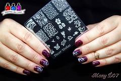 Funky Fingers Midge + Surpresa II (‡†!☆Sїмσиε Ð.☆™!†‡) Tags: vinho nailart midge carimbada colorclub funkyfingers decorunhas latexlíquido