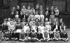 Class photo (theirhistory) Tags: boys girls children kids school england shirt dress shorts trousers wellies bow jumper primary junior boots jacket playground shoes tie class form pupils students education