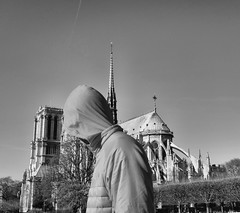 DSF4726 (sergedignazio) Tags: street paris france photography photographie notredame rue homme cagoule x100s