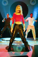 Christina Aguilera in leather pants (gitblp) Tags: greatbritain black sexy london leather shiny pants christina pop jeans trousers leder aguilera cuero cuir
