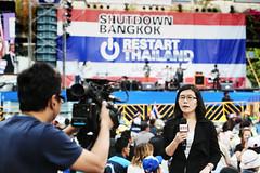 Shutdown Bangkok Restart Thailand 2014 (fabiocalvettiphotographe) Tags: people food thailand peace friendship respect bangkok protest smiles peaceful happiness together revolution change tentcamping bangkokthailanddemonstration shinavatra fabiocalvetti