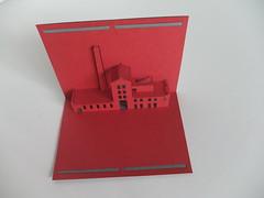 Budynek przy ul. Zbkowskiej w Warszawie (Kartki Przestrzenne) Tags: architecture 3d origami kirigami centrum warszawa kartki reklama koneser zabytek zbkowska oczyszczalnia reklamowe przestrzenne praskie spirytusu