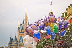 Main Street Vibes (nicholeotter) Tags: world street usa white snow castle balloons mouse orlando florida magic main tinkerbell kingdom disney mickey cinderella walt princesses