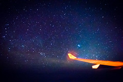 Views of Wings (3) (AC02 Works) Tags: longexposure sea sky night plane star inflight space aircraft wing astro pacificocean galaxy astrophotography airbus ces winglet mu  a330  milkyway    chinaeastern  planespotter   a330243     b5975