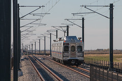 RTD train at 40th and Airport (Michael Karlik) Tags: railroad train colorado district denver transportation commuter emu passenger regional catenary rtd