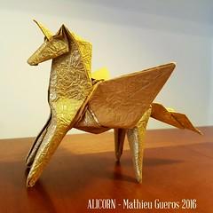 ALICORN (Mathieu Gueros Origami) Tags: horse cheval pegasus unicorn licorne pegase alicorn mathieuguerosorigami mathieugueros origamimathieugueros