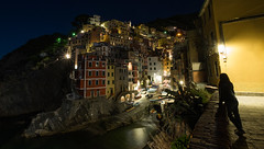 (Kujo1087) Tags: city light sea italy composition landscape photography lights landscapes rocks fuji view emotion pointofview fujifilm cinqueterre emotions fujinon riomaggiore citynight landscapenight xt1 xphotographers saramandes