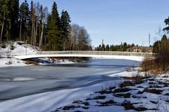 (ri Sa) Tags: bridge trees winter plants snow ice finland river helsinki vantaa