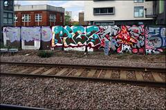 Fatso / Piez / GS (Alex Ellison) Tags: urban graffiti boobs railway bms graff ac fats gs eastlondon trackside allcity piez gullyside
