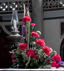 161/366 Moreton Flower Show - 366 Project 2 - 2016 (dorsetpeach) Tags: england church floral dorset 365 flowerarrangement moreton 2016 366 aphotoadayforayear 366project second365project synicholas