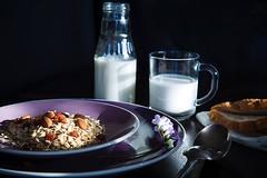 . (mirinamais) Tags: milk natural nuts health products goodmood porridge muesli tastybreakfast housebreakfast photoirinamaysovaphotomirairinamaysovaphotofoodbreakfast stakanmoloka