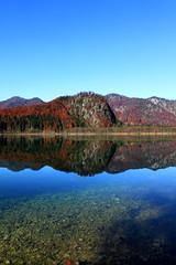 lake in Upper Austria (Katinka Irrlicht) Tags: lake water mountain autum fall herbst upper austria obersterreich hiking wandern tarn bergsee