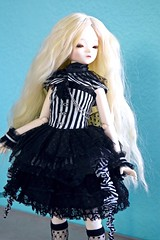 Code Noir try-on--Blue Fairy Sweet Olive (alington) Tags: black outfit silent ivory fairy wig tiny blonde bjd abjd bluefairy pearled codenoir