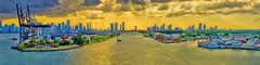 View of downtown Miami, Florida, U.S.A. / The Magic City (Jorge Marco Molina) Tags: city sunset urban usa building architecture cosmopolitan cityscape realestate metro florida miami panoramic highrise metropolis residential metropolitan density southflorida biscaynebay magiccity sunshinestate portofmiami governmentcut miamidadecounty