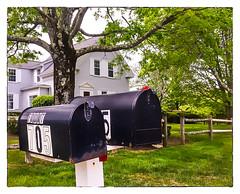B12 - Mailboxes (Timothy Valentine) Tags: mailbox us unitedstates massachusetts large hanson 0516 2016 onmycard flickrbingo4 flickrbingo4b12