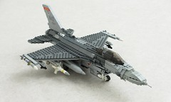 Yet another Viper upgrade (Mad physicist) Tags: lego aircraft f16 viper usaf fightingfalcon f16c