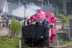 Pink SL at Wakasa Railway (22) (double-h) Tags: sl tottori jnr steamlocomotive c12   eos6d   pinksl wakasarailway  c12 ef100400mmf4556lisiiusm c12167 wakasastation classc12 c12 sl