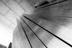 Sweet spot (Lazy_Artist) Tags: white abstract black metal stone steel bricks radial linear