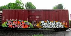 pyro - (timetomakethepasta) Tags: pyro freight train graffiti nemo ykr boxcar