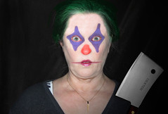 137/366 Bartender at the Clown N Cleaver (ruthlesscrab) Tags: carnival self dark weird clown wah cleaver hereios werehere 366the2016edition 3662016 16may16 day137366
