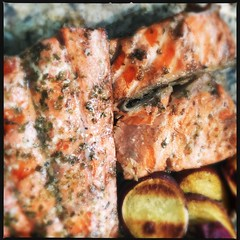 Copper River Salmon (two kinds) (swanksalot) Tags: fish salmon grill grilled copperriver kingsalmon