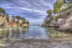 HDR Cala Fornells (Felipe Quetglas) Tags: hdr mallorca spain sea rocks clouds nubes cielo sky