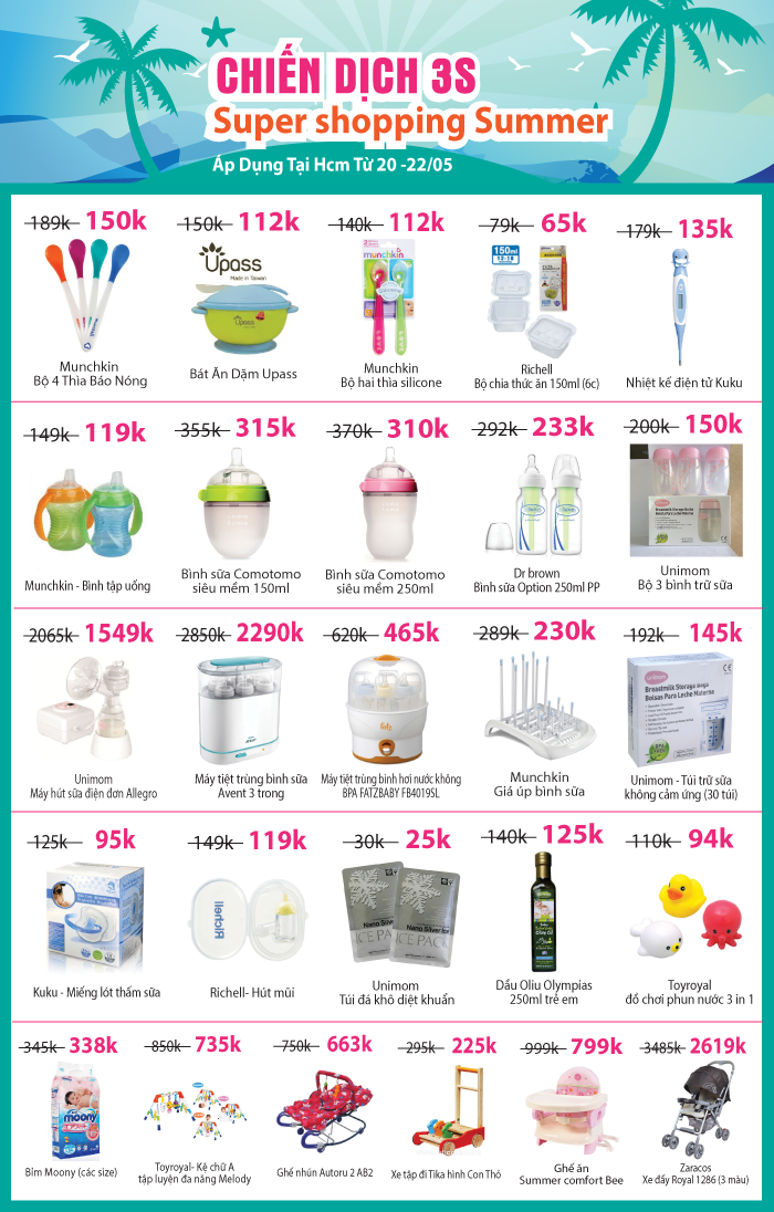 Chiến dịch 3S: Supper shopping Summer – 50%