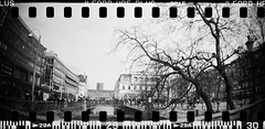20160404-DSC_8730 (sarajoelsson) Tags: city urban blackandwhite bw panorama film monochrome 35mm gteborg march sweden gothenburg toycamera wideangle panoramic hp5 135 ilford everydaylife 2016 plasticlens filmphotography sprocketholes filmisnotdead filmshooter teamframkallning sprocketrocket believeinfilm digitizedwithdslr