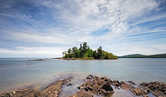 Hunter's Point (Kevin Pihlaja) Tags: hunterspoint keweenaw upperpeninsula copperharbor michigan coppercountry lakesuperior longexposure leefilters bigstopper nature landscape shoreline island lake hiking greatlakes rock