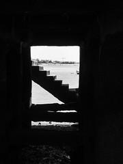 Under the pier (franleru1) Tags: bw mer portugal architecture lisboa lisbon nb paysage plage dtaildarchitecture omdem5