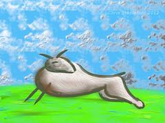 Baa (Chris@YellowMopArt) Tags: art digital sheep surreal lamb baa ipad