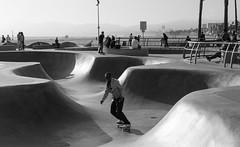 Venice Skate Sesh 2 (Marisa Sanders Photography) Tags: canon canon7d california cali adventure adventures explore skate skateboard skateboarding venice veniceskatepark blackandwhite black white bw monochrome silhouette