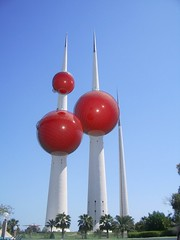 kuwait towers in red   (wadypalace) Tags: towers kuwait