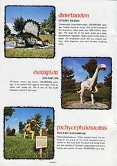 Dinosaur Land Souvenir Book 04 - Dimetrodon, Oviraptor, Pachycephalosaurus (Tom Simpson) Tags: tourism statue vintage virginia dinosaur souvenir roadside winchester dinosaurs attraction dimetrodon whitepost dinosaurland pachycephalosaurus oviraptor
