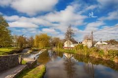 Birr Castle | Ireland (@k@sh) Tags: blue ireland summer sky cloud reflection green castle church saint canon river garden ruins marys birr akash canon5dmark2