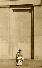 Portrait (Natali Antonovich) Tags: portrait monochrome hat architecture seaside hats lifestyle style relaxation oostende seashore seasideresort belgiancoast seaboard